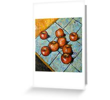 apples on tile Greeting Card