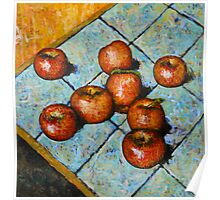 apples on tile Poster