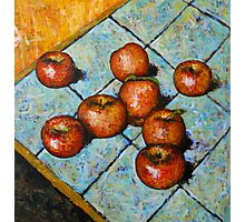 apples on tile Photographic Print
