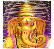 Ganesha with Helmet Poster