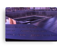 9/11 Memorial - New York City Canvas Print