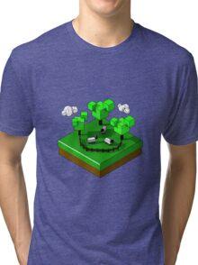 Isometric island frame - Sheep Tri-blend T-Shirt