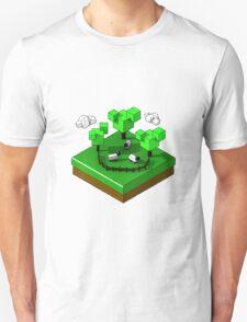 Isometric island frame - Sheep T-Shirt