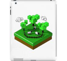Isometric island frame - Sheep iPad Case/Skin