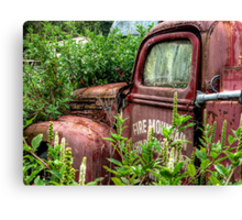 THE OLD ABANDONED FIRE ENGINE.........! Canvas Print