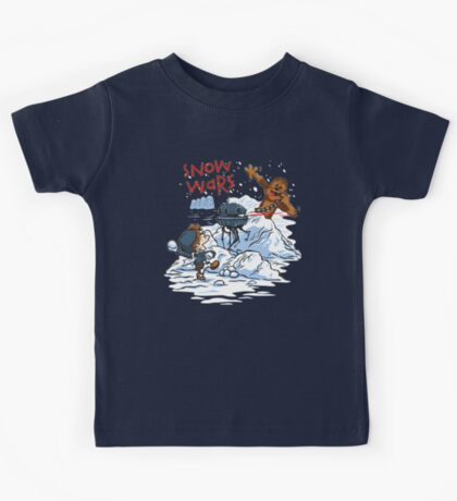Calvin And Hobbes snow wars Kids Tee
