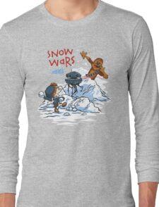 Calvin And Hobbes snow wars Long Sleeve T-Shirt