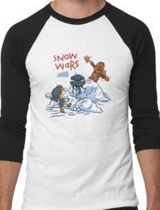 Calvin And Hobbes snow wars Men's Baseball ¾ T-Shirt
