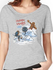 Calvin And Hobbes snow wars Women's Relaxed Fit T-Shirt