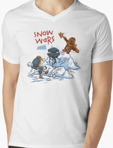 Calvin And Hobbes snow wars Mens V-Neck T-Shirt