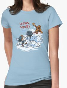 Calvin And Hobbes snow wars Womens Fitted T-Shirt