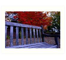 Fall Bench Art Print
