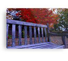 Fall Bench Metal Print