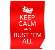 Keep Calm and Bust 'Em All Poster