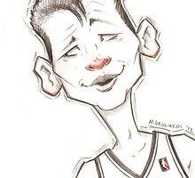 Jeremy Lin Caricature by magzart
