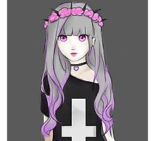 Pastel goth girl Photographic Print