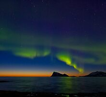 Auroras in April by Frank Olsen