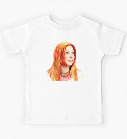 Willow Coloured Pencil Drawing Kids Tee