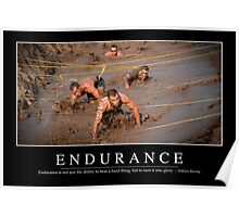 Endurance: Inspirational Quote and Motivational Poster Poster