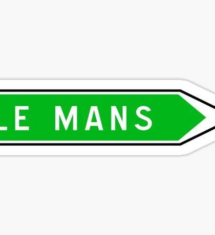 Le Mans, Road Sign, France Sticker