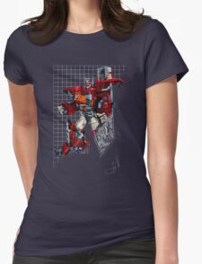 Robots in Disguise Optimus Prime Transitions Womens Fitted T-Shirt