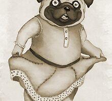 Vintage Pug by Aja Wells