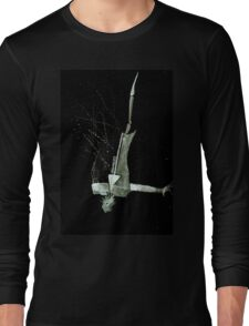 Let's Draw Sherlock The Reichenbach Fall Long Sleeve T-Shirt