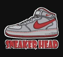 SNEAKER HEAD: RED AIR FORCE ONE MIDS Kids Clothes