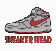 SNEAKER HEAD: RED AIR FORCE ONE MIDS by SOL  SKETCHES™