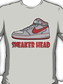 SNEAKER HEAD: RED AIR FORCE ONE MIDS T-Shirt