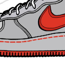 SNEAKER HEAD: RED AIR FORCE ONE MIDS Sticker