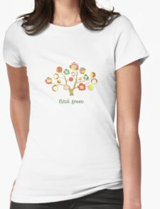 tree of life - think green Womens Fitted T-Shirt