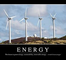 Energy: Inspirational Quote and Motivational Poster by StocktrekImages