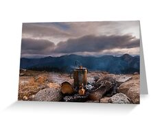 Mountain coffee  time Greeting Card