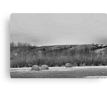 Winter Bales of The QU'APPELLE VALLEY Saskatchewan Canvas Print