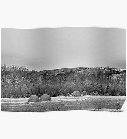 Winter Bales of The QU'APPELLE VALLEY Saskatchewan Poster