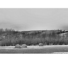 Winter Bales of The QU'APPELLE VALLEY Saskatchewan Photographic Print