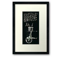 Let's Draw Sherlock The Reichenbach Fall Framed Print