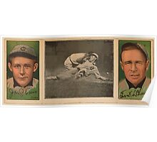 Benjamin K Edwards Collection John J Evers Frank L Chance Chicago Cubs baseball card portrait Poster