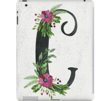 Monogram C with Floral Wreaths iPad Case/Skin