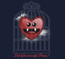 SET YOURSELF FREE (HEART) Kids Clothes
