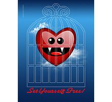 SET YOURSELF FREE (HEART) Photographic Print