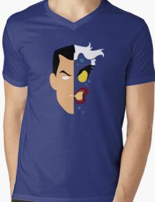 Harvey Dent Two Face Minimalistic Design Mens V-Neck T-Shirt