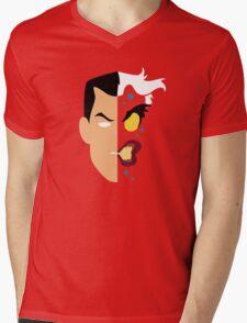 Harvey Dent Two Face Minimalistic Design Mens V-Neck T-Shirt