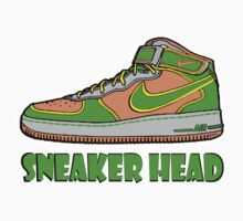 SNEAKER HEAD: GREEN|ORANGE|GREY AIR FORCE ONE MIDS by S DOT SLAUGHTER