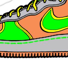 SNEAKER HEAD: GREEN|ORANGE|GREY AIR FORCE ONE MIDS Sticker