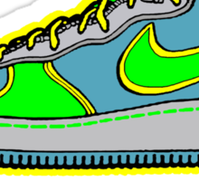 SNEAKER HEAD: GREEN|BLUE|YELLOW AIR FORCE ONE MIDS Sticker