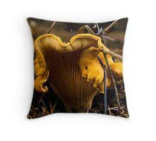 Chanterelle mushroom in Oregon Throw Pillow