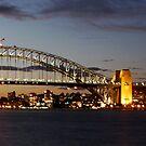 Sydney Harbour Bridge and Opera House SUNSET by Andrew  MCKENZIE