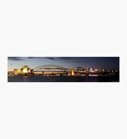 Sydney Harbour Bridge and Opera House SUNSET Photographic Print